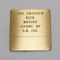 Brass Name Plate